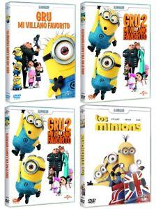 PELICULA DVD PACK GRU MI VILLANO FAVORITO 1+2+3 + LOS MINIONS PRECINTADA