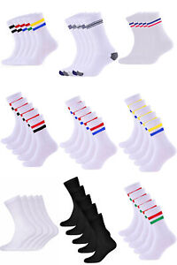 Men's Breathable Cushioned Sports Trainer Socks Cotton Rich Terry 5 packs