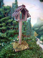 Bird House Feeder MI 50763 Wooden  Miniature Fairy Garden Birdhouse