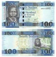 SOUTH SUDAN 100 Pounds (2017) P-15c UNC Banknote Paper Money