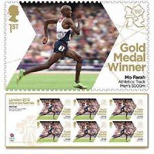 UK Team GB Gold Medal Winner Miniature Sheet - Mo Farah Men's 5000m MNH 2012