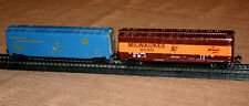 (2) MAISTO DIE CAST 1:131 SCALE BOXCARS - MILWAUKEE ROAD AND BALTIMORE & OHIO