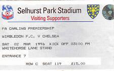 Chelsea Football League Fixture Tickets & Stubs (1992-2004)