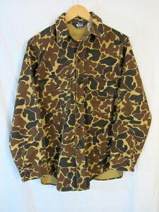 Vintage Woolrich Men's Duck Hunter Camo Cotton Chamois L/S Button Shirt Size M