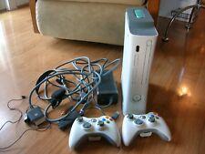 Xbox 360 White Console HDMI Port 20GB Power Adapter & AV Cords 2 Controllers