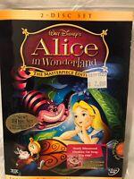2004 Walt Disney's Alice in Wonderland The Masterpiece Edition 2 DVD Disc Set