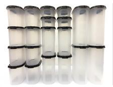 Tupperware 2x Snowflake Antarctic Rectangular Round Purple 1.25l