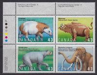 Canada #1529-1532 43¢ Prehistoric Life in Canada UL Plate Block MNH