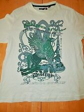 Ted Baker London tshirt Men Sz 4 (XL) Weapons of Love Light Green Graphic Tee