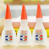 10pcs 502 Super Glue Instant Cyanoacrylate Adhesive Strong Fast UK Repair Q Y0Y7
