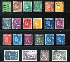 Used Block Finnish Stamps