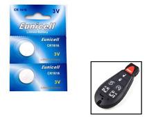 2 x 3V Eunicell CR1616 Lithium Li-Ion Car Motorbike Key Fob Remote Batteries