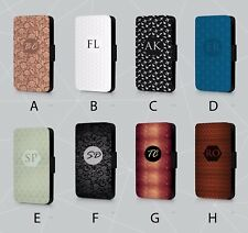 PERSONALISED PHONE CASE PATTERN PRINT DESIGN POP CULTURE FAUX LEATHER FLIP COVER