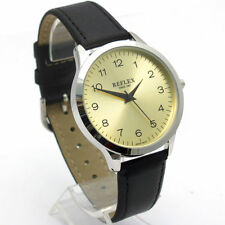 Faux Leather Band Men's Polished Analogue Wristwatches