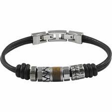JF84196040 Genuine Fossil Black Leather Beaded bracelet £45