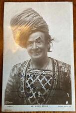 Very Rare Original Signed Postcard, Willie Edouin c1870, Comedian Actor Dancer