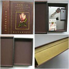 Large Book Safe Tableau Encyclopedique Et Methodique -  ( Wooden)  Botanique