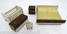 DDR Vero Schlafzimmer Puppen Möbel der 60iger Jahre aus Holz- im Original Karton