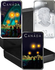 2019 UFO Shag Harbour Incident Unexplained Phenomena $20 Silver Glow-Dark Coin