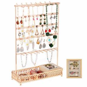 Groß Schmuckständer Ohrringhalter 55 Löcher Display Ohrring Ständer Kettenständ