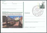 """BRD Bildpostkarte 60 Pfg. Bavaria """"BEERFELDEN, ODENW 1"""" 17.-7.1989 pracht"""