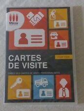 Micro Application Cartes De Visite pour PC Windows neuf sous blister
