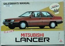 MITSUBISHI LANCER Confidential Salesman's Manual Brochure Feb 1984 EUROPE ED