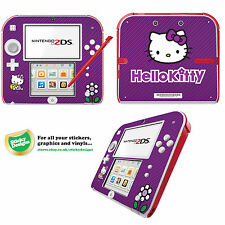 HELLO KITTY Vinile Autoadesivo per Nintendo 2DS-Viola