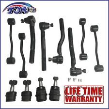 12Pcs Front Suspension Kit Tie Rod Ball Joint For 1999-2004 Jeep Grand Cherokee