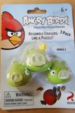 Angry Birds Pig Puzzle Erasers - 3 Pack Assemble Erasers
