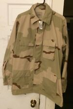 Rare New with Tags 1990s Desert Storm Camo Army Large Long Boho Jacket Shirt