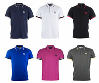 New Mens Sergio Tacchini Polo T-Shirt Top Retro Vintage Golf top Branded Classic