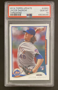 2014 Topps Update #50 Jacob deGrom RC Rookie PSA 10 Mets