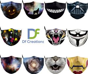 Fun Face Mask, Reusable Darth Vader, Horror Joker, Teenager Adult Washable