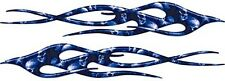 """Twisted Motorcycle Car Truck Flame Decals Blue Skulls 18"""" REFLECTIVE FL29"""