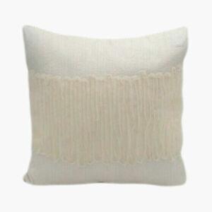 New Jennifer Lopez JLO Estate Square Throw Pillow Ivory Size 18 x 18 MSRP $59.99