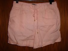 Ellen Tracey Womens Linen Champagne Shorts Size:  S  NWT