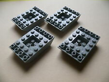 Lego 4 carenages gris clairs set 7313 7314 6464 / 4 old LG slope inverted double