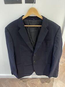 Men's Giorgio Armani Wall Street Suit Blue Size EU 58