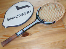 Snauwaert entrenador vintage raqueta de tenis madera, talla 4 3/8