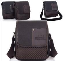 Men's Leather Bag Man Briefcase Casual Business Shoulder Messenger Handbag HT