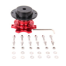 6 Hole Car Steering Wheel Quick Release HUB Adapter Snap Off Boss Kit Red
