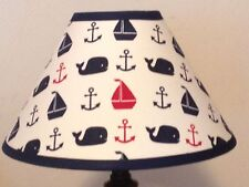 Hamptons Whale Fabric Nursery Lamp Shade M2M Pottery Barn Kids Bedding