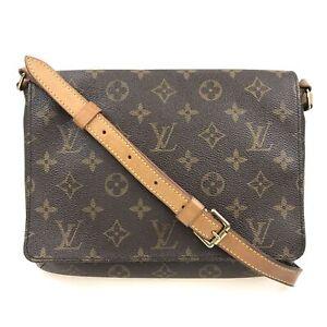 100% Authentic Louis Vuitton Monogram Musette Tango Bag M51388 [Used] {10-0049}