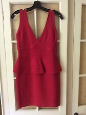 Herve Leger Red Dress New with Tags. Sample size large but actually M