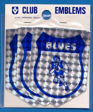 1970's 3 Pack VFL Carlton Blues Bumper Stickers UnStuck Original Retro N/Mint