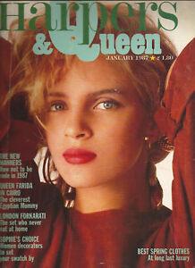 Harper's & Queen January 1987- Liz Smith-Mary Fox Linton-Queen Farida