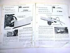 International 2 & 3 Ditcher Brochures 1964-1966 Lot Of 2