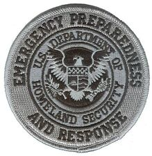 "D35EPRblack Homeland Security Emergency Preparedness Response 3.5"" black patch"