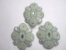 "3"" GEM JEWELS Iron-On Medallion Appliques (3 pc) - BRIGHT GREEN"